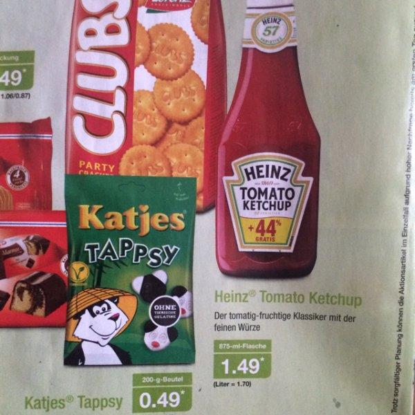 [ Aldi Nord ] Heinz Tomato Ketchup 875 ml Flasche 44% Gratis