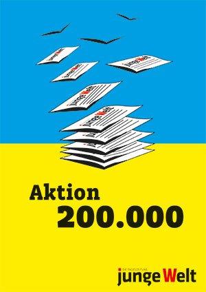 Aktion 200.000: Junge Welt 3 Wochen gratis + gratis Exemplare zum Verteilen am 01.Mai 2016