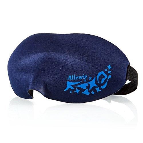 Amazon — Allewie Augenmaske/Schlafbrille/3D Schlafmaske, leicht und konturiert mit verstellbarem Gummiband, blau