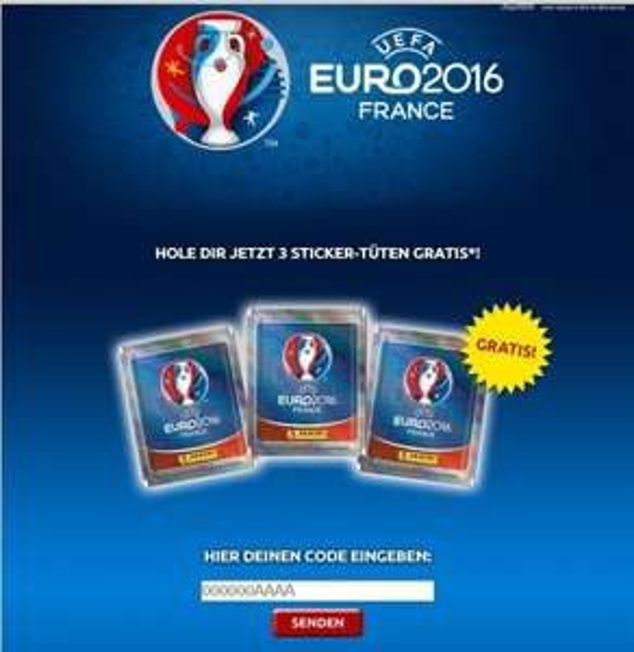 [ UEFA 2016 Sticker ] 3 Tüten mit Stickern kostenlos für die, die das Heft geordert hatten