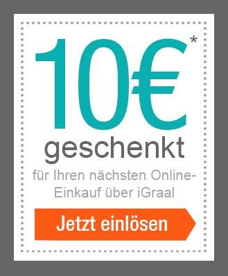 Igraal 10 Euro für Neukunden ohne Mindestbestellwert + Cashback