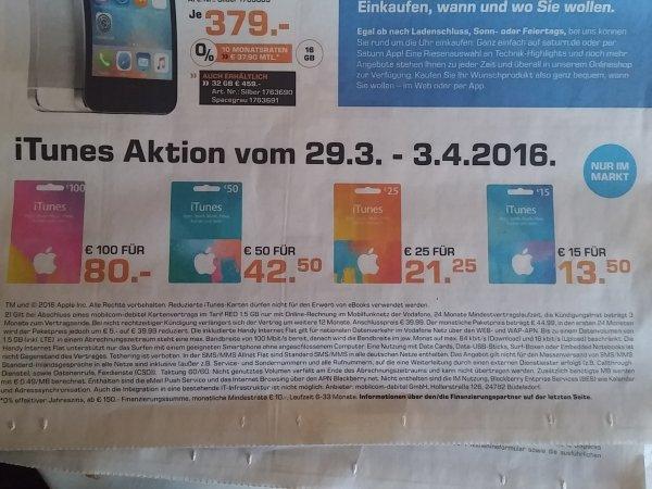 @Saturn 100€ iTunes Guthaben