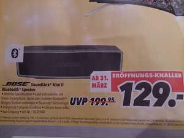 (lokal) Bose Soundlink Mini II @Medimax Kiel City/Schwentinental