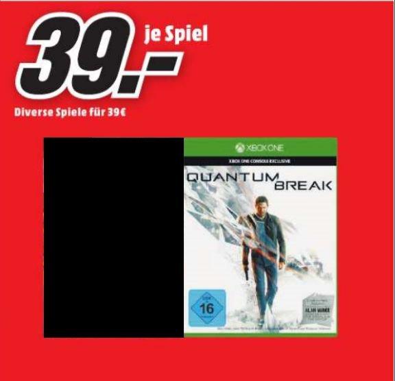 [Lokal Mediamarkt Porta Westfalica] Quantum Break inkl. Alan Wake (DLC) Xbox One für 39,-€