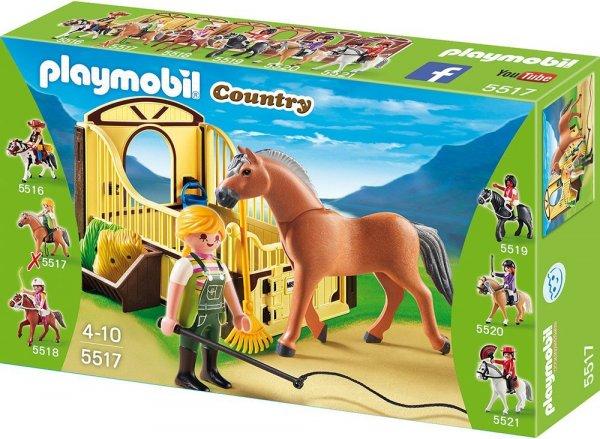 PLAYMOBIL 5517 - Fjord Pferd mit braun-gelber Pferdebox für nur 5,94 EUR [Plus Produkt]