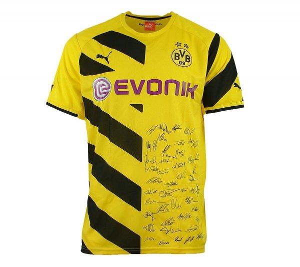 BVB - Fussball Home Trikot BL 2014/2015 inkl. Unterschriften PVG: 39,99 - 50% gespart
