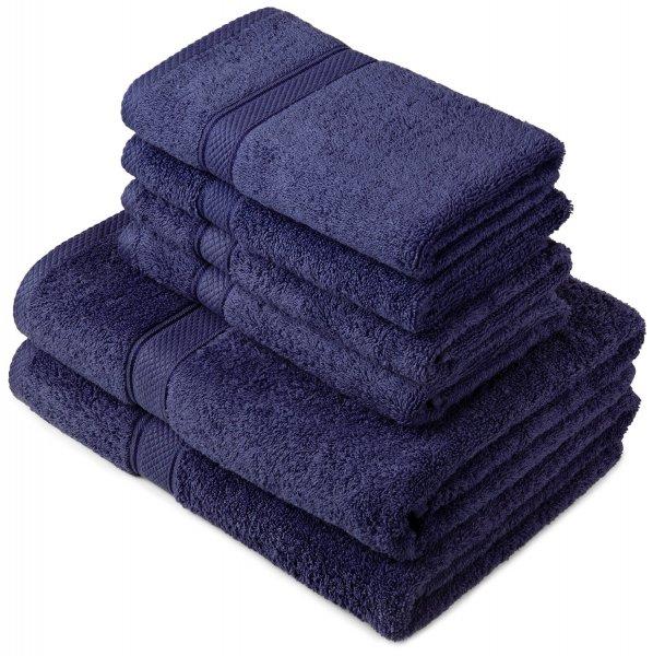 [Amazon Prime] Pinzon by Amazon 6 Teilige Handtuchset aus ägyptischer Baumwolle, Weiß, 2 Bade- und 4 Handtücher