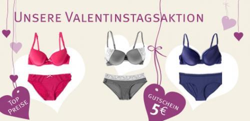 Valentinstag-Unterwäscheaktion bei Ambellis mit 5€ Gutschein auf bereits reduzierte Artikel / Wäsche Set ca. 22€ inkl. Versand