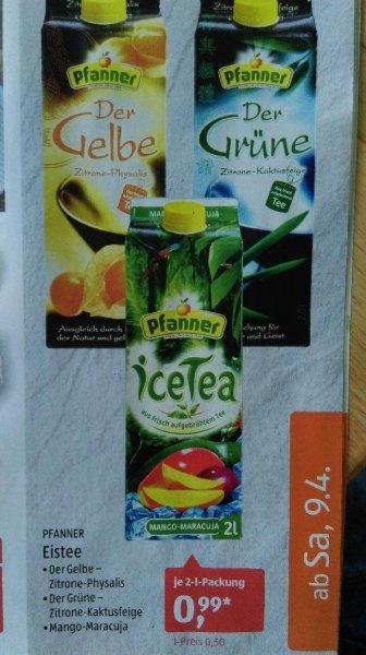 [Aldi Süd] Pfanner Eistee im 2,0 Liter Tetra Pack
