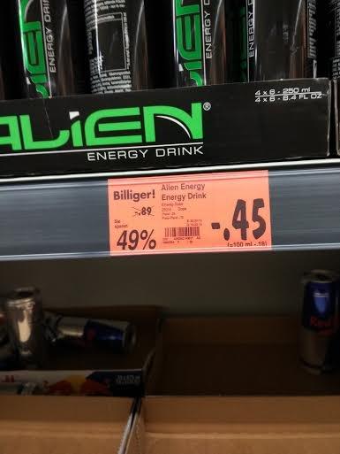 [Kaufland bundesweit?] Alien Energy Drink 0,23€ die 250ml Dose (statt 0,89€)