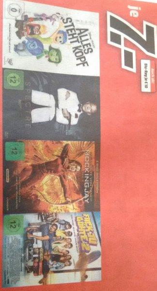 Mockingjay 2, Spectre, Alles steht Kopf, Fack ju Göhte 2 DVD 7,-, Blu-Ray 10,- (MM, lokal?)