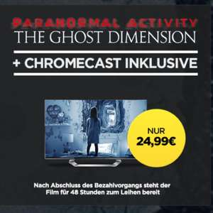 Chromecast+Paranormal Activity The Ghost Dimension für 24,99 @Wuaki.tv