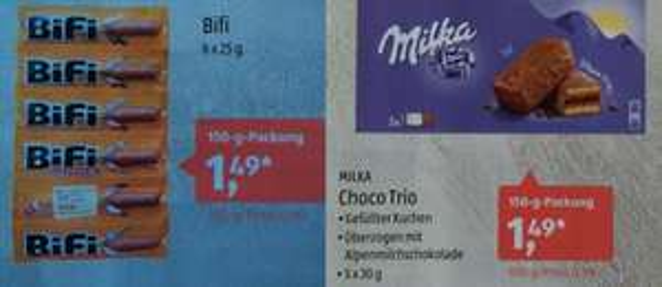 [Aldi Süd] Bifi 6x25g + Milka Choco Trio 5x30g