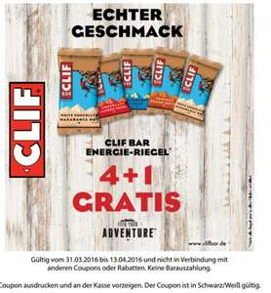 [Lokal Budnikowsky HAMBURG] Cliff Bar ab 5 stück 1.43€/Stück bis 13.04