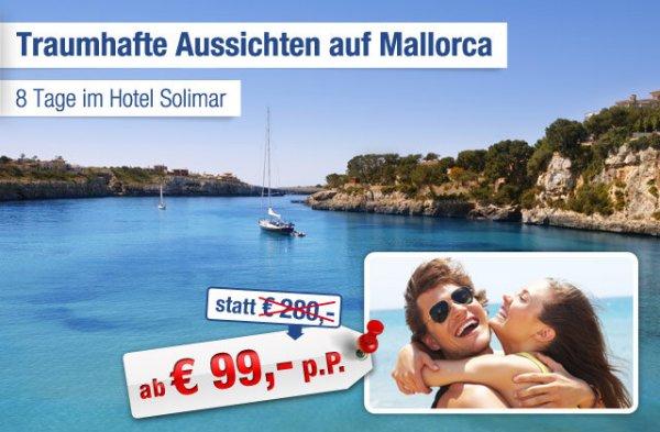 Ruheoase auf Mallorca mit traumhaftem Ausblick: 8 Tage pro Person ab 99 statt 280 EUR