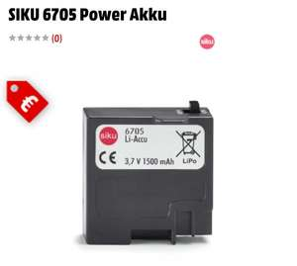 [Media Markt Online] SIKU 6705 Power Akku für 14.49€(Versandkostenfrei), nächster idealo Preis liegt bei 24.99€+Versand!