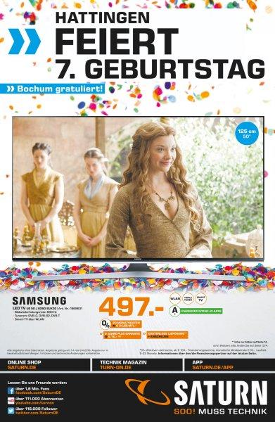 Saturn Bochum+Hattingen 7 Jahre Geburtstag// Samsung UE 50 J 6250 zu 497,-