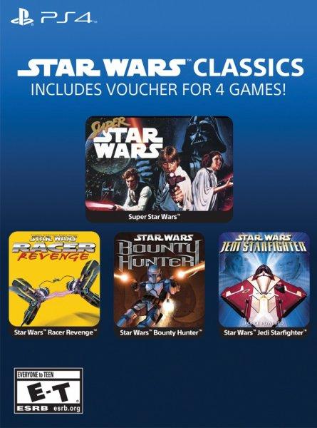 [PS4-US] Star Wars Classics (u.a. Super Star Wars, Star Wars Bounty Hunter) 4 Spiele = 4,90€ @ G2A