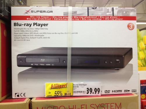 [OFFLINE] Kaufland: SUPERiOR Blu-ray Player für 39,99 Euro [lokal?]