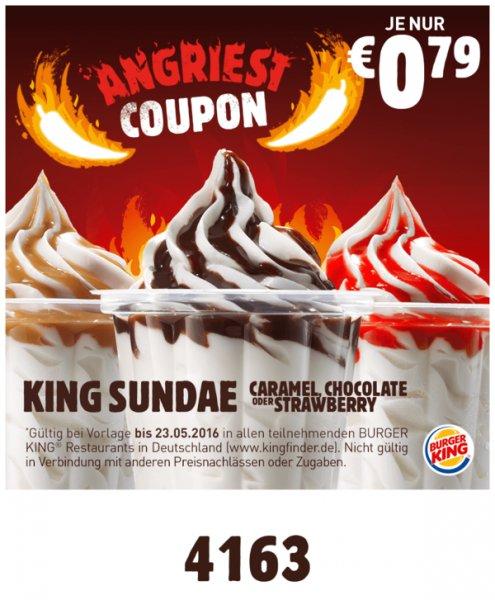 Burger King Bundesweit - King Sundae 0,79€