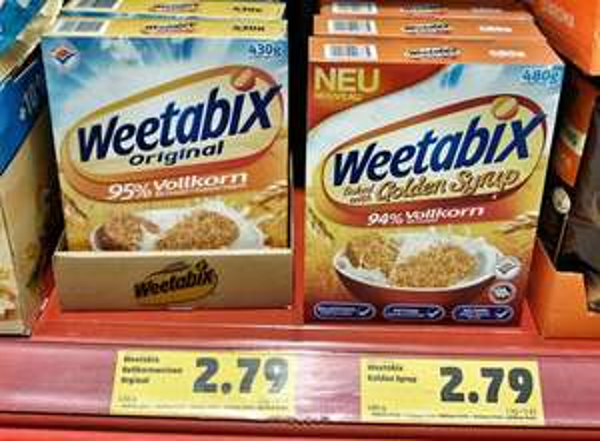 PENNY Weetabix Orginal / golden syrup  2,79€
