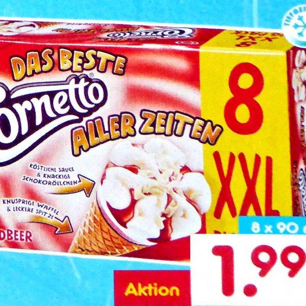 Cornetto Eis XXL Big Pack für 1,99€ das sind nur 25 Cent pro Stück bei [NETTO MD]