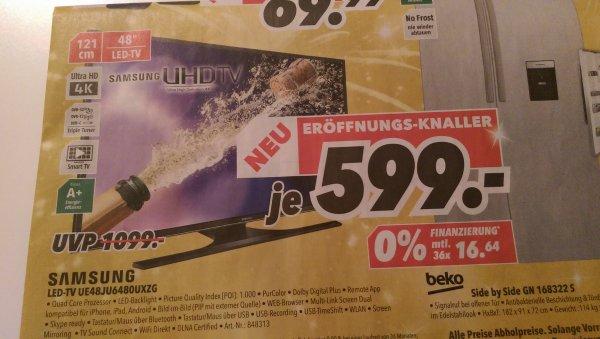 Samsung UE48JU6480UXZG bei Medimax in Bochum für 599€ (idealo 649 €)