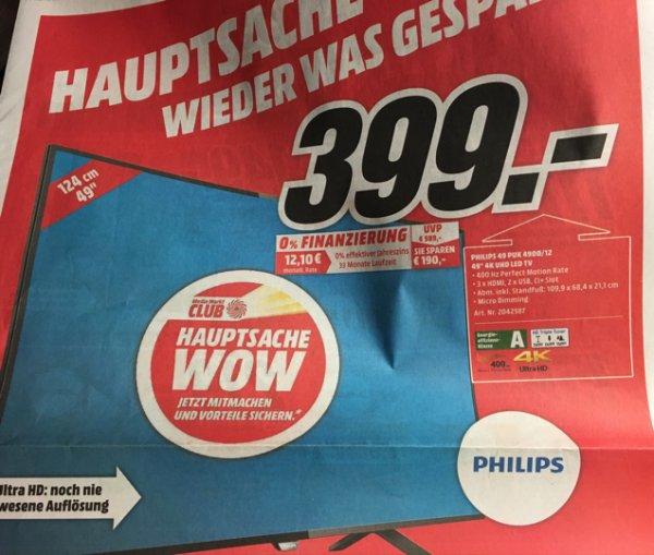 Philips 49 Zoll LED TV Media Markt Weiden (Lokal?)
