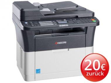 Kyocera Ecosys FS-1320MFP Laser-Multifunktionssystem (Drucker, Kopierer, Scanner und Fax) für 119 € ( mit 20 € Cashback effektive nur 99 € ) > [computeruniverse sunday sale]