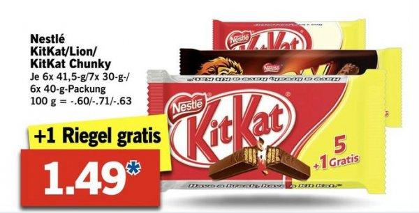 [LIDL] KitKat 1,49 € inkl. 1 Riegel gratis