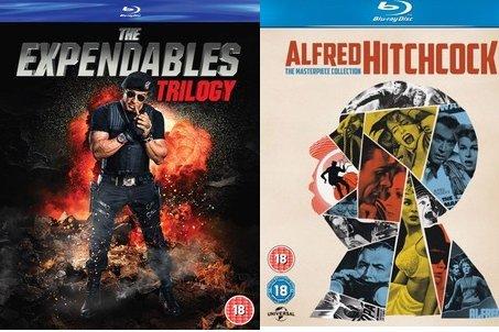 [Zavvi Blitzangebote] The Expendables Trilogy (nur Englisch) [Blu-ray] für 10,79€ und Alfred Hitchcock: The Masterpiece Collection für 32,39 €