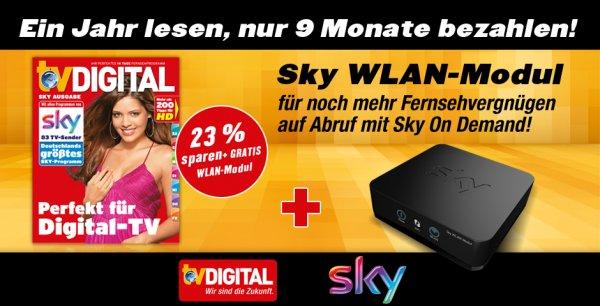 TVDigital Jahresabo mit Sky WLAN-Modul