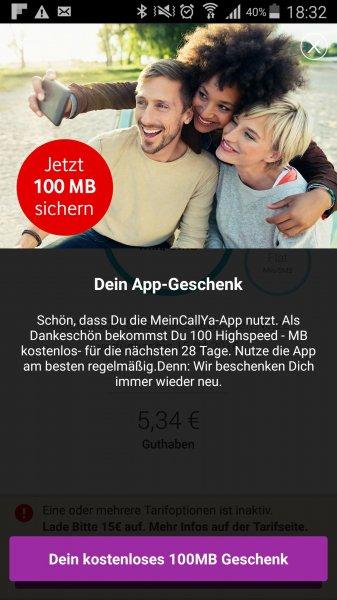 """Vodafone """"MeinCallYa"""" App nutzen und 100mb High-Speed Internet abstauben"""