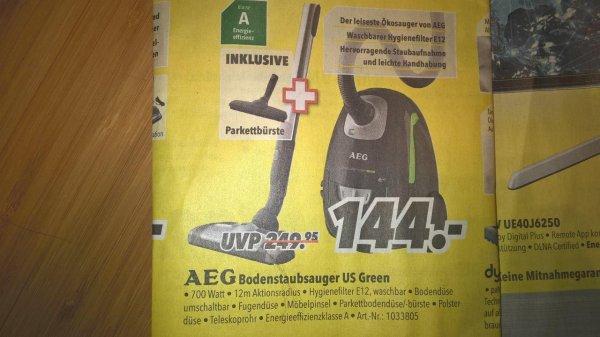 AEG Electrolux USGREEN+ Ultra Silencer Staubsauger für nur 144€ Medimax in mehreren Bundesländern