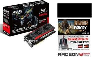 [Caseking.de] ASUS STRIX-R9390-DC3OC-8GD5-GA­MING, Radeon R9 390, 8GB GDDR5, DVI, HDMI, 3x Dis­play­Port+ Hitman + Far Cry + Counter Belt Black  für 303,98€