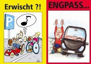 [BSK e.V.] Gratis Hinweiskarten gegen Falschparker auf Behindertenparkplätzen & Gehwegparker inkl. kostenlosem Versand *WIEDER VERFÜGBAR*