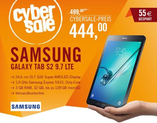 [ cyberport ] Cybersale: Samsung GALAXY Tab S2 9.7 T815N Tablet LTE 32 GB Android 5.0 schwarz