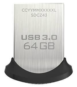 [Amazon]SanDisk Ultra Fit USB-Flash-Laufwerk 64GB USB 3.0 (Verkäufer Savetec Swiss)