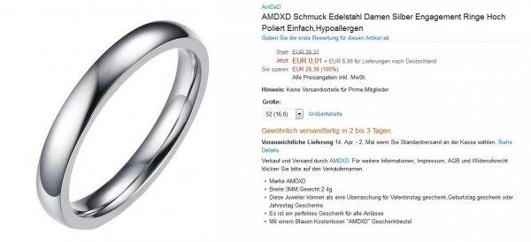 AMDXD Schmuck - Edelstahl Damen Ringe