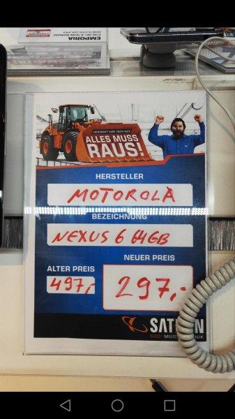 Lokal Saturn Lübeck, Motorola Nexus 6