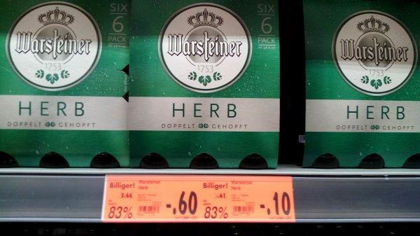 [Lokal: Kaufland Berlin Eichhorster Weg] Warsteiner Herb Six-Pack für 0,60€