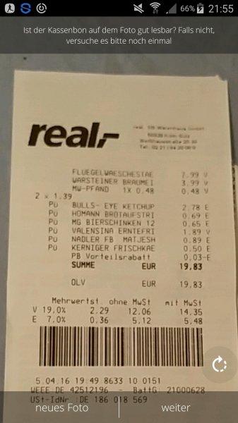 [KÖLN REAL] BULLS EYE Ketchup 1,39€. Mit Scondoo 2 = 1,78€