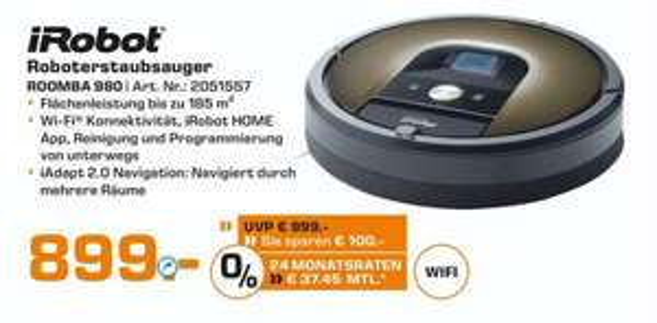 @ saturn.de | iRobot 980 / 894€ Newsletteranmeldung