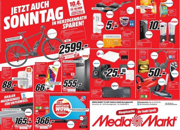 (lokal) Media Markt Herzogenrath Angebote zum verkaufsoffenen Sonntag 10.04.