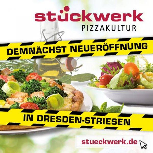 [Lokal Dresden] Gratis Pizza bei Stückwerk-Pizzakultur zwischen 17.00 und 21.00 Uhr