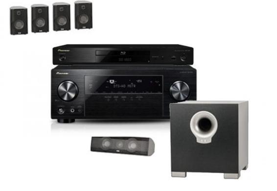 Heimkinoset: ELAC Cinema 10 + Pioneer VSX-830-K AV-Receiver + Pioneer BDP-180 für 999€