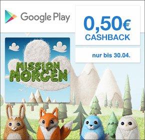Android / Qipu 50 cent Cashback für erstmalige Installation von Mission Morgen App