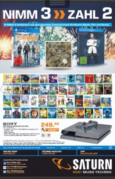 [Saturn Köln Hohe Str.] 3 für 2 auf Spiele, Musik und Film u.a. [06.04. - 10.04.16]
