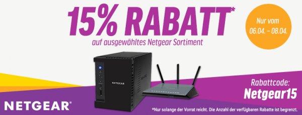 15% Rabatt auf Netgear Produkte bei NBB - z.B. NETGEAR R6400-100PES für 107€ und NETGEAR EX3800 AC750 für 48,31€