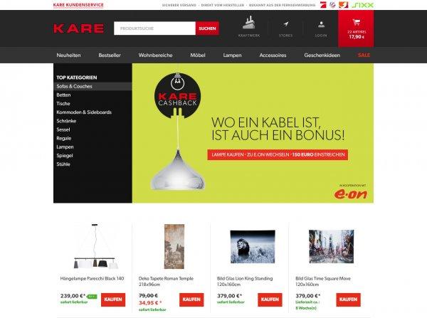 150€ Cashback auf Lampen bei Kare